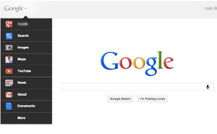 New Google Bar Design