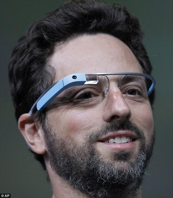 Google Glass indossati da Sergej Brin